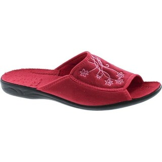 Sc Home Collection Womens 155 Open Toe Low Wedge Plush House Slippers Made In Europe