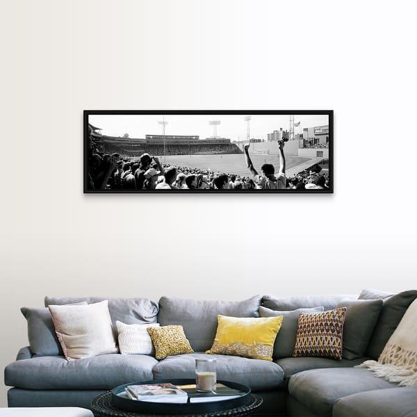 Shop Black Friday Deals On Fenway Park Boston Massachusetts Black Float Frame Canvas Art Overstock 25512139