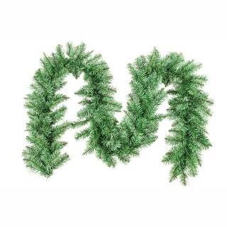 9 x 12 Green Point Pine Artificial Christmas Decorative Garland - Unlit