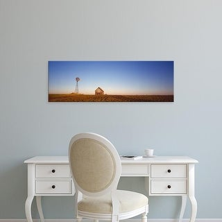 Easy Art Prints Panoramic Images's 'Windmill in a field near a farmhouse, Illinois, USA' Premium Canvas Art