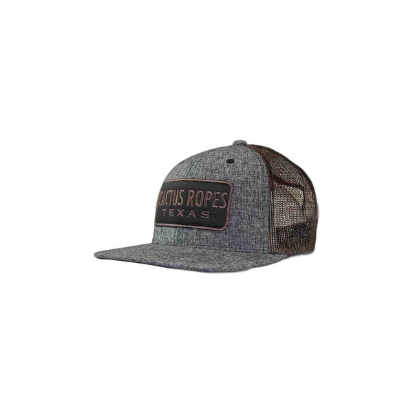 6bba3398179d72 Shop HOOey Hat Mens Cactus Ropes Snapback Trucker O/S Gray Brown ...