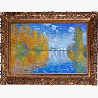 Claude Monet 'Autumn at Argenteuil' Hand Painted Oil Reproduction