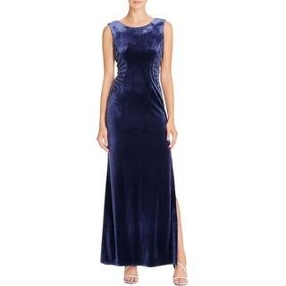 Laundry by Shelli Segal Womens Evening Dress Sleeveless Velvet