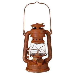"Gift Corral Western Antique Oil Lamp Lantern 7"" Brown 87-93721"