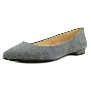 Nine West Onlee Women Pointed Toe Suede Gray Flats
