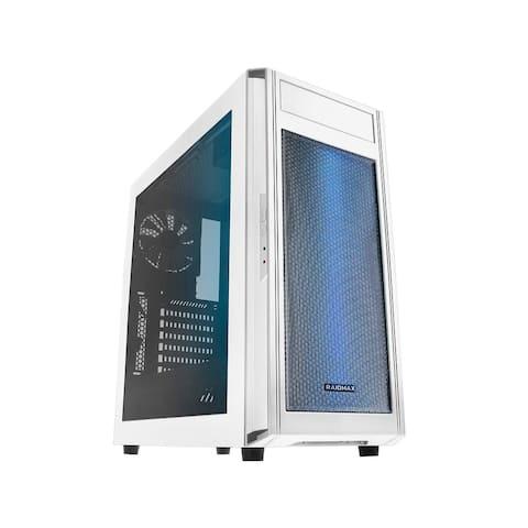 RAIDMAX ALPHA-WLW White Steel / Plastic ATX Tower Computer Case