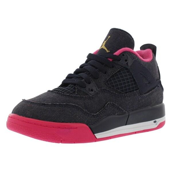 11dd0abb2bd9ce Shop Jordan Retro 4 Basketball Preschool Girl s Shoes - On Sale ...