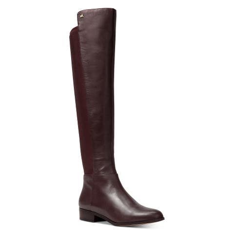 MICHAEL Michael Kors Womens Bromley Riding Boots Leather Knee-High