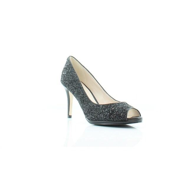Cole Haan Davis Women's Heels Blck Glittr/Ltr - 8.5
