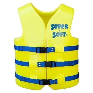 TRC Recreation Adult Super Soft USCG Vest XS - Yellow - 1022012