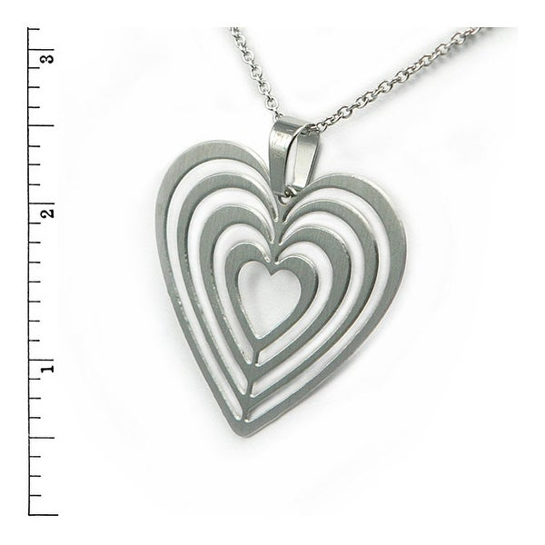Stainless Steel Ladies Heart pendant - 22 inches