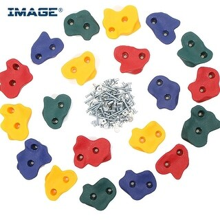 20PCS Textured Bolt Rock Climbing Wall Hand Holds for Kids Children Outdoor Playground Indoor Set