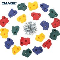20PCS Textured Bolt Rock Climbing Wall Hand Holds for Kids Children Outdoor Playground Indoor Set - SIZE