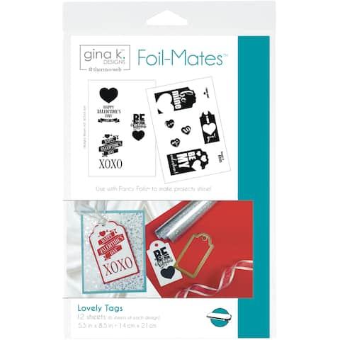 "Gina K Designs Foil-Mates Tags 5.5""X 8.5"" 12/Pkg-Lovely, 6 Designs/2 Each"
