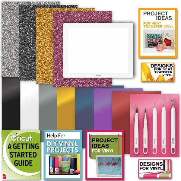 Shop Cricut Brightpad Bundle Lightbox With Glitter Iron On