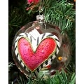 Silvestri Lisa Frost Heart Ball Ornament - Thumbnail 0
