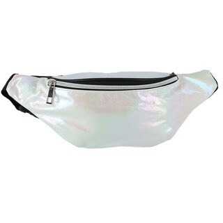 CTM® Iridescent Glitter Fashion Waist Pack - One size