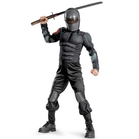 Disguise GI Joe Retaliation Snake Eyes Classic Muscle Child Costume - Black