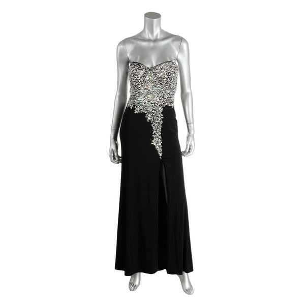 52061e3fb Shop Crystal Doll Womens Juniors Evening Dress Beaded Strapless - 5 - Free  Shipping On Orders Over $45 - Overstock - 27132551