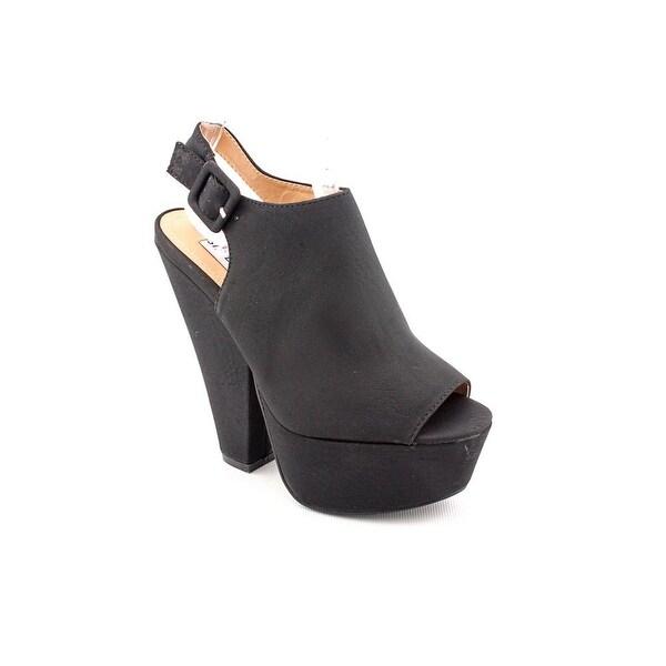 Steve Madden Gabby Women Open Toe Synthetic Black Platform Heel