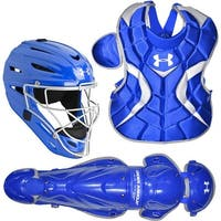 Under Armour Baseball PTH Victory Series Youth Catching Kit (Royal Blue, Small / 7-9)