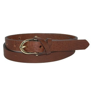 The British Belt Company Women's Callie Leather Belt with Crossover Keeper