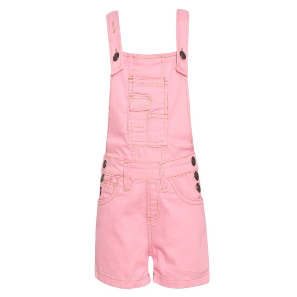 dee987151 Shop Girls Pink Racer Back Short Leg Side Button Detail Trendy Overall -  Free Shipping On Orders Over $45 - Overstock - 28298154
