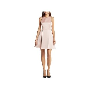 BCBGeneration Womens Cocktail Dress Pleated Keyhole Back
