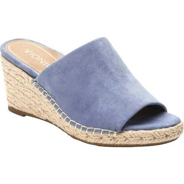 360f3ba4fe9 Shop Vionic Women s Kadyn Wedge Slide Blue Suede - On Sale - Free ...