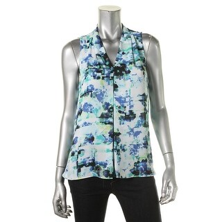 Vince Camuto Womens Printed Sleeveless Pullover Top - S