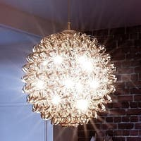 "Luxury Modern Chandelier, 23.5""H x 23.5""W, with Eclectic Style, Polished Chrome Finish"