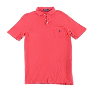 Polo Ralph Lauren Red Mens Size 2XL Polo Rugby Custom Fit Shirt