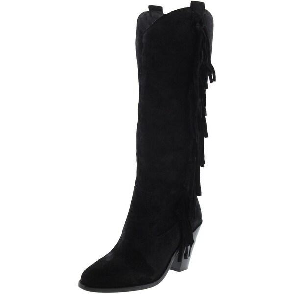 ASH Womens Imala Cowboy, Western Boots Suede Fringe