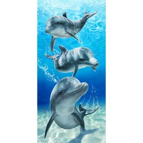 Baron Bay Dolphins 30x60 Brazilian Velour Beach Towel