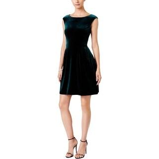 Vince Camuto Womens Party Dress Velvet Embellished