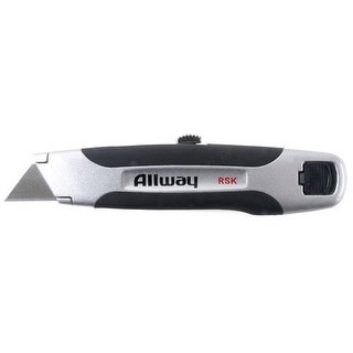 Allway Tools RSK Soft Grip Retractable Utility Knife With 3 Blades