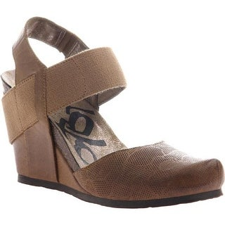 OTBT Women's Rexburg Wedge Dark Brown Leather/Textile