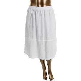 Eileen Fisher Womens Plus Linen Slub A-Line Skirt - 3X