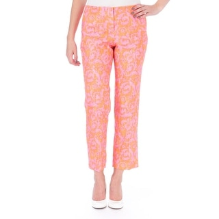 Elizabeth and James Womens Gladys Linen Printed Casual Pants