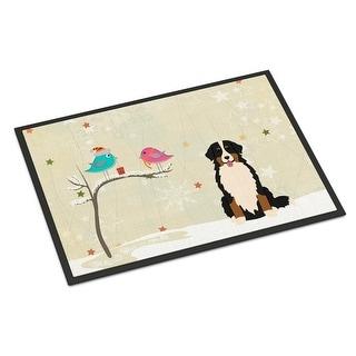 Carolines Treasures BB2508MAT Christmas Presents Between Friends Bernese Mountain Dog Indoor or Outdoor Mat 18 x 0.25 x 27 in.