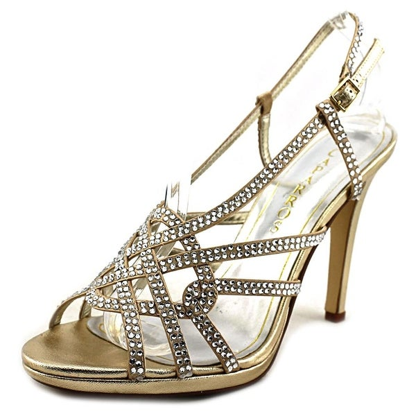 Caparros Vegas Women Open Toe Synthetic Gold Sandals