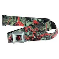 Marvel Universe Seatbelt Belt - DAREDEVIL Action Poses / Comic Panels Design-Holds Pants Up