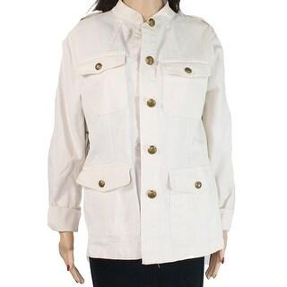 Lauren by Ralph Lauren Women's Jacket White Ivory Size 4 Military