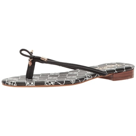 Nanette Lepore Womens Melanie Leather Open Toe Casual Slide Sandals