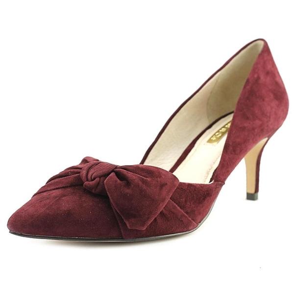 Louise et Cie Adelena Women Pointed Toe Suede Burgundy Heels