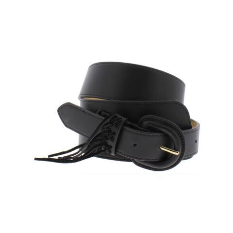 BCBGeneration Womens Fashion Belt Faux Leather Fringe