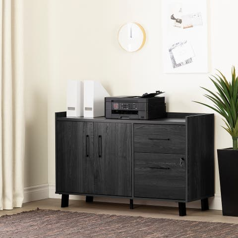 South Shore Kozack 2-drawer Credenza with Doors
