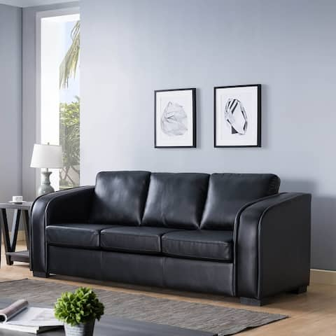 Q-Max Comfy Sofa with Pocket Coil Cushions and Piping Design