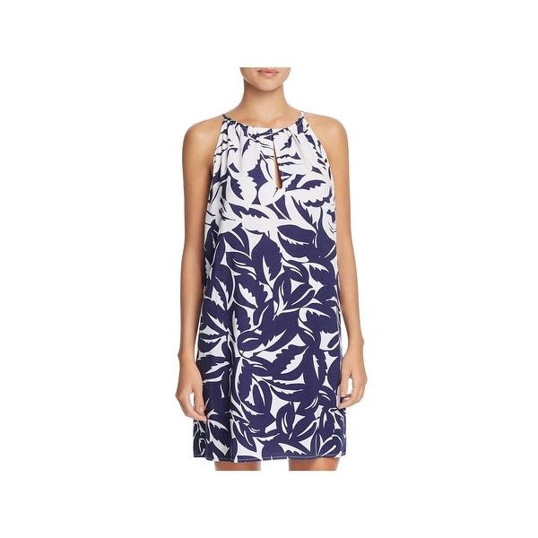 a9b8359088 Shop Tommy Bahama Womens Graphic Hi Neck Dress Swim Cover-Up - Free ...