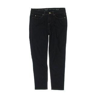 Rafaella Womens Petites Skinny Jeans Dark Wash Slimming Fit - 12P